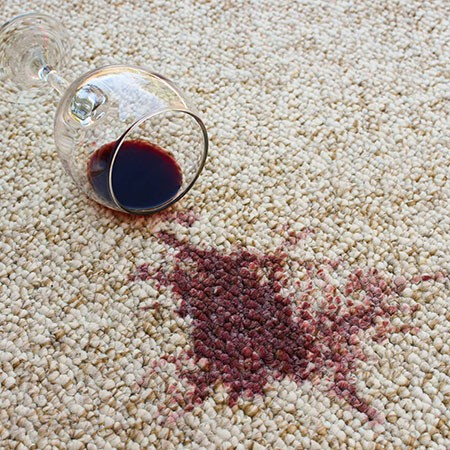 Wine stain on Carpet | Flooring Concepts