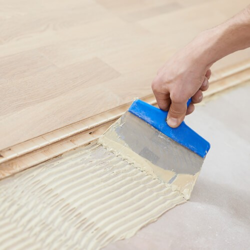 Glue down Hardwood installation | Flooring Concepts