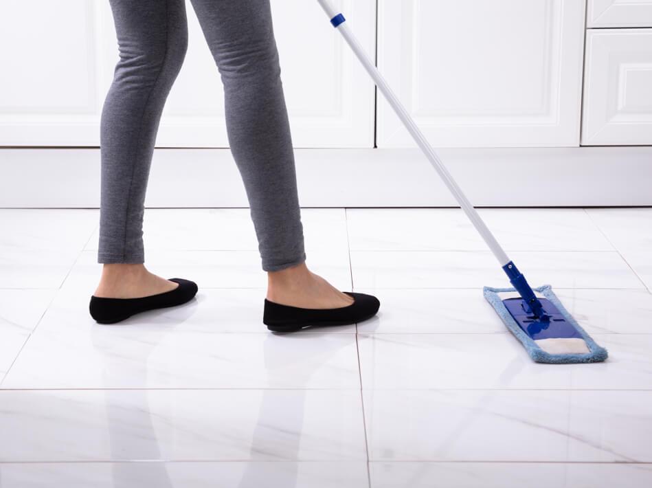 Sweeping Tile flooring | Flooring Concepts
