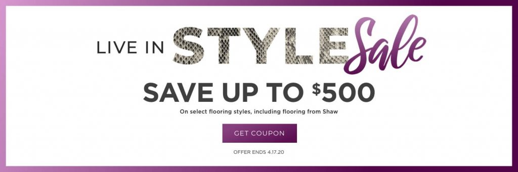 Live in Style Sale   Flooring Concepts