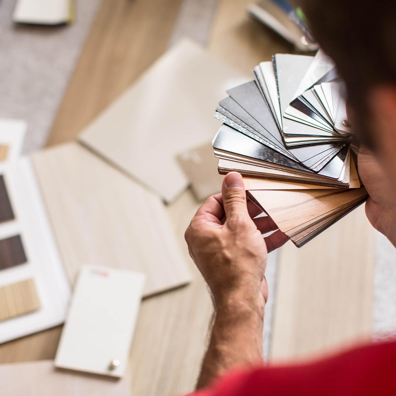 Comparing flooring samples | Flooring Concepts